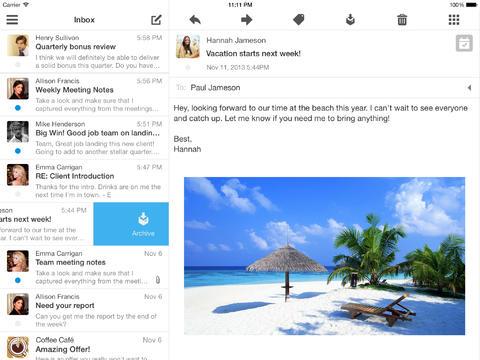 Boxer iPad mailapp