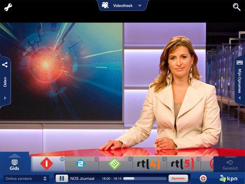 KPN iTV Online iPad update opnemen