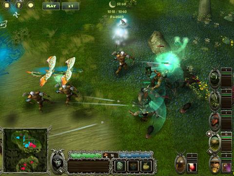 Runic Sorcerer gevecht op iPad