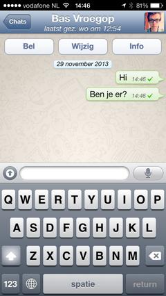 whatsapp chatgesprek oud