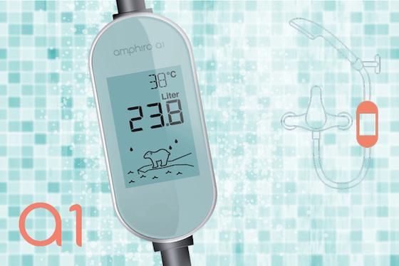 Amphiro a1 vertelt iPhone-app of je te lang doucht