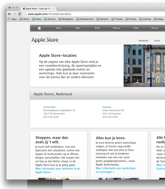 apple store haarlem website