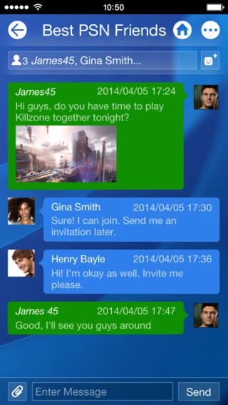 PlayStation App chatten iPhone