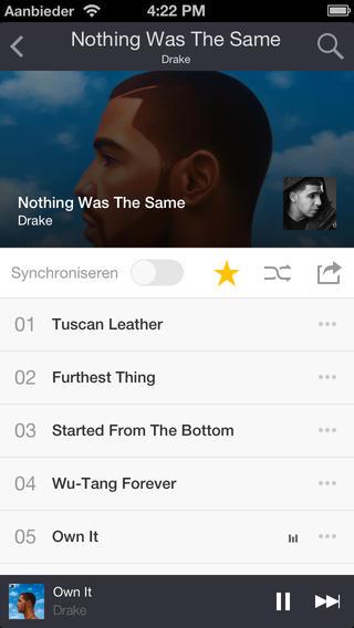 Deezer album beluisteren iOS 7