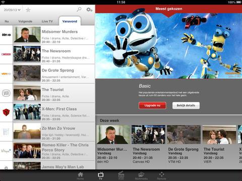 TVVlaanderen opnemen header iPad