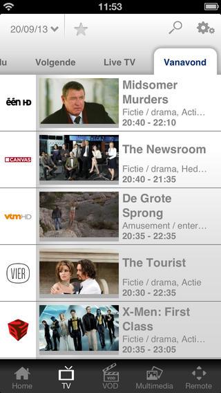 TVVlaanderen films op tv iPhone