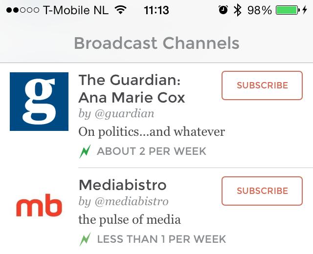 App.net channels