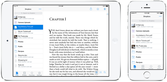 Dropbox iPhone en iPad voor iOS 7