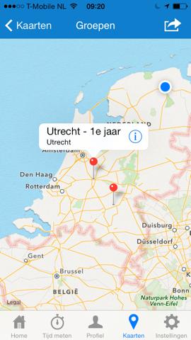 SchaatsApp.nl kaart schaatsgroepen
