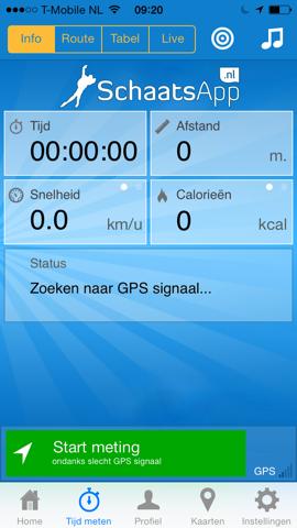SchaatsApp.nl iPhone live prestaties