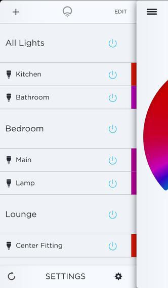 LIFX lampen te bedienen iPhone