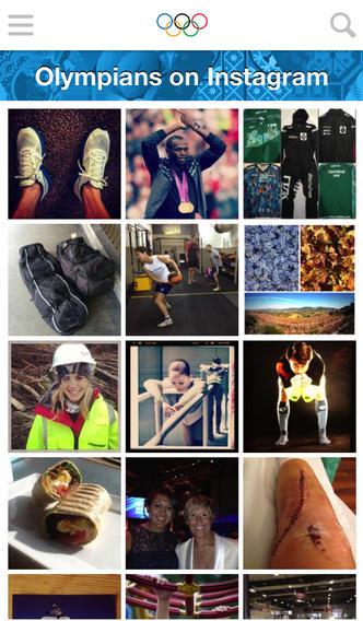 Olympians on Instagram iPhoe