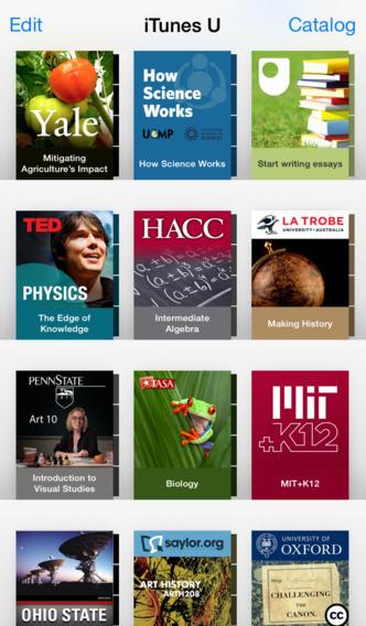 iTunes U nieuwe schoolboekenkast
