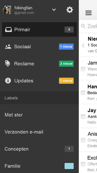 Gmail iOS 7 3