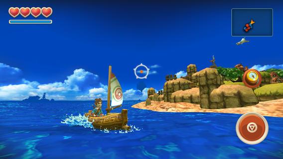 Oceanhorn zeilen om eiland