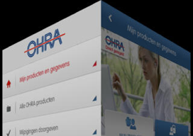 OHRA iPhone-app menu draaien