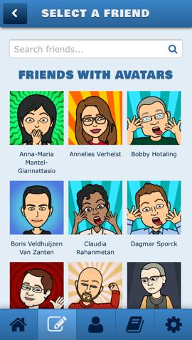 vrienden avatars bitstrip