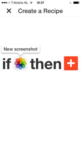 IFTTT foto gebruiken iPhone