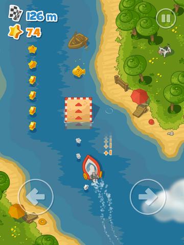 ICS Little Boat River Rush iPad screenshot