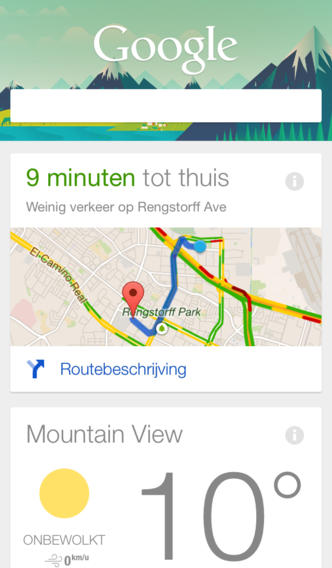 Google Search Google NOW iOS