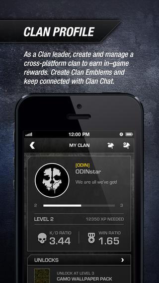 COD Ghosts Clan profiel iOS