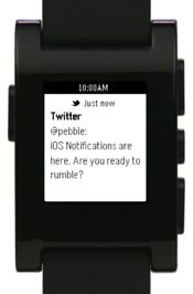 pebble horloge