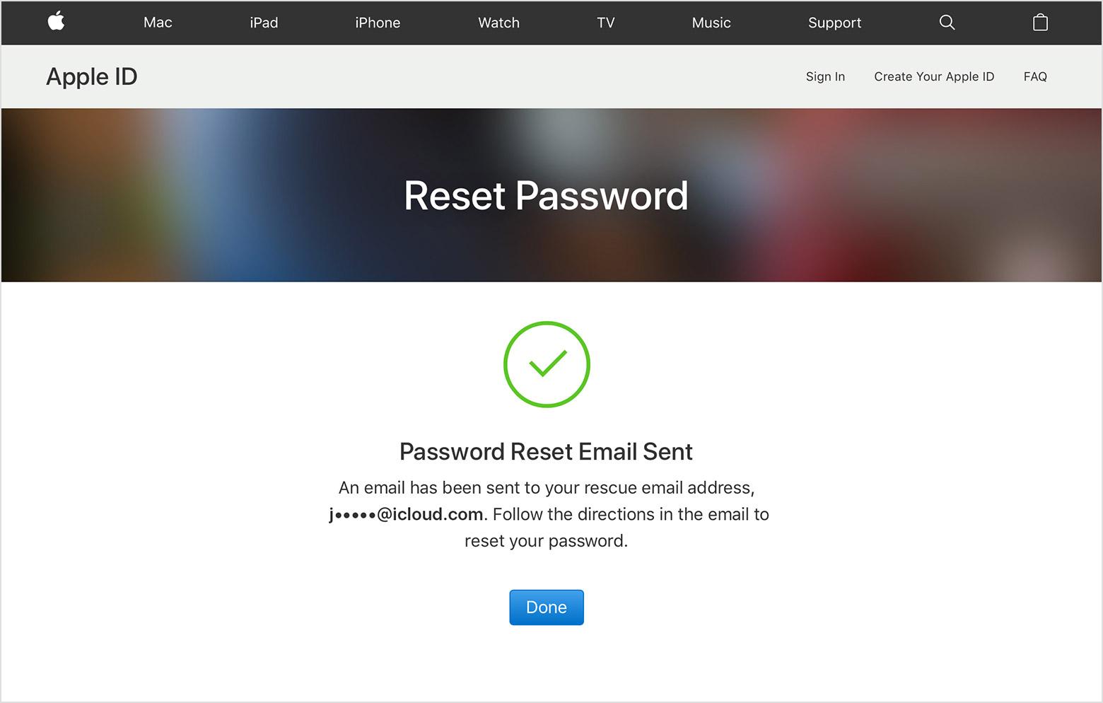 Wachtwoord Apple ID vergeten.