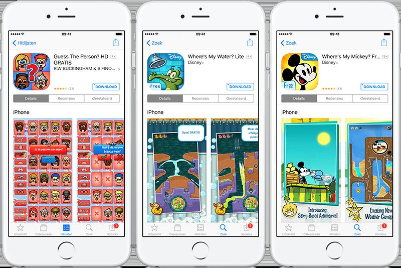Gratis en Lite-apps moeten voldoende functionaliteit bevatten