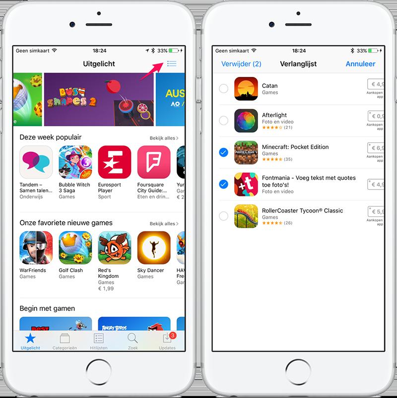 Verlanglijst iOS