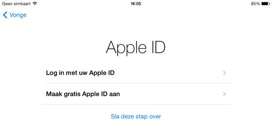 IPHONE NIEUWE APPLE ID INSTELLEN