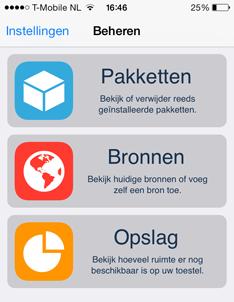 Cydia 1.1.9 op iOS 7