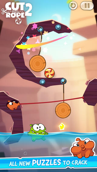 Cut the Rope 2 met water