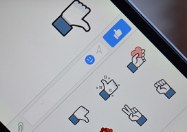 Facebook Messenger duim omlaag The Verge