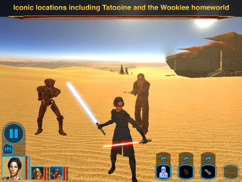 ICS Star Wars KOTOR iPad woestijn