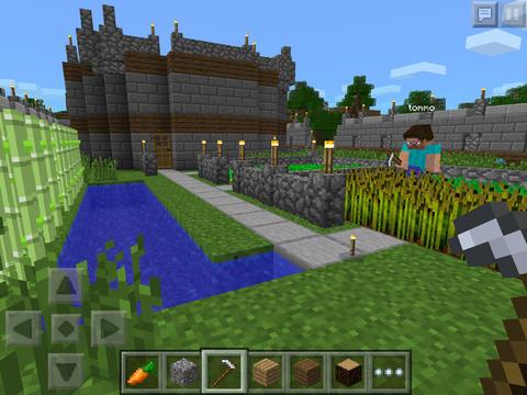 Minecraft Pocket Edition klein screen