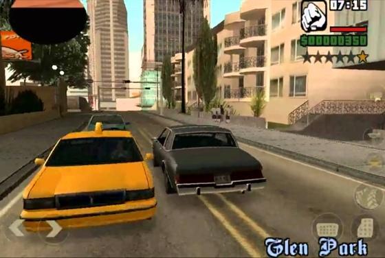 GTA San Andreas iOS auto rijden