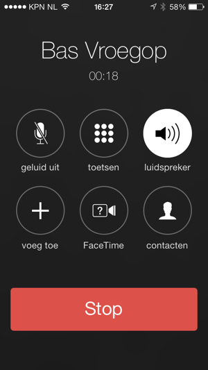 telefoongesprek facetime overschakelen