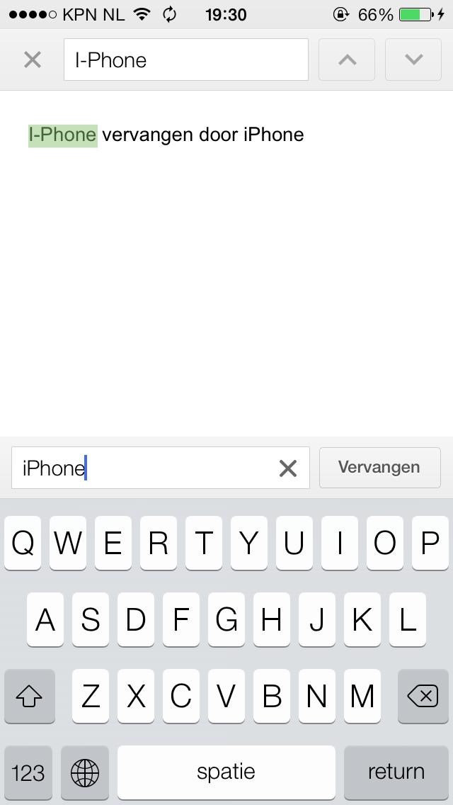 Google Drive - Zoeken en vervangen