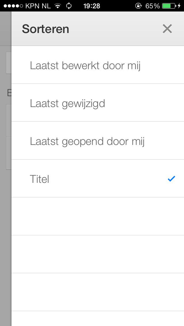 Google Drive - Sorteren