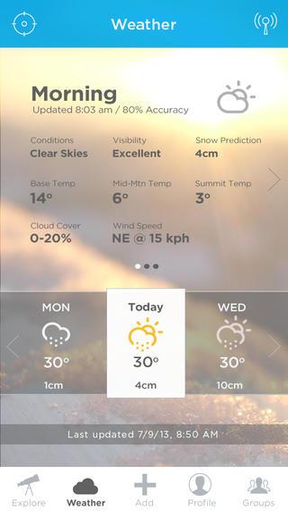 Mountago weerpagina iPhone