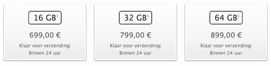 iPhone 5s levertijden 24 uur