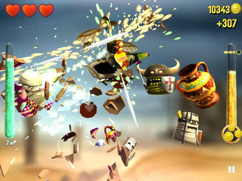 KingHunt slicing game header iPad iPhone