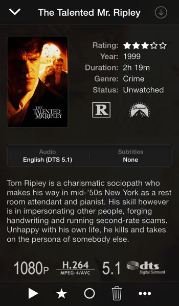 Plex iOS 7 beschrijving van programma