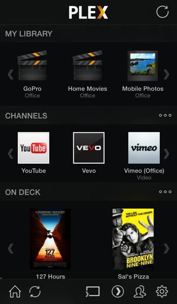 Plex iPhone bibliotheek iOS 7