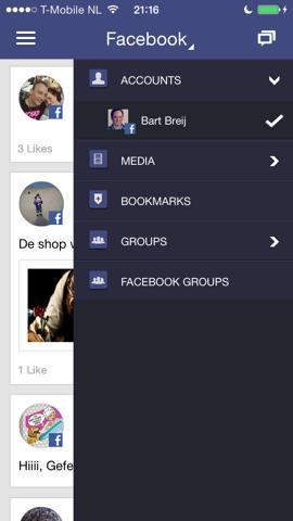 One.vu opties binnen Facebook