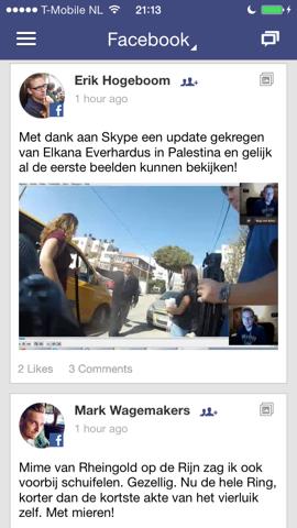 One.vu Facebook berichten iPhone