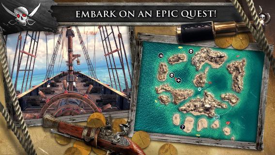 Assassin's Creed kaart en schip