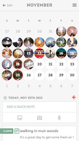 Journify november kalender iPhone