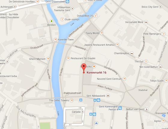 Post Plaza Gent kaart