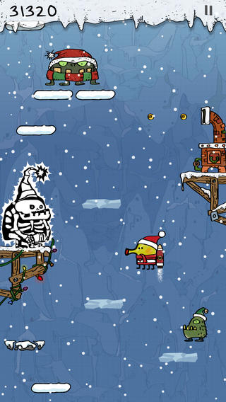ICS Doodle Jump Christmas Special Free iPhone screenshot